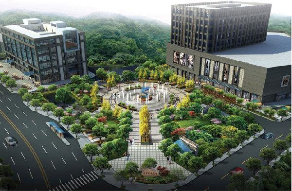 邵东城北市政休闲广场路灯变
